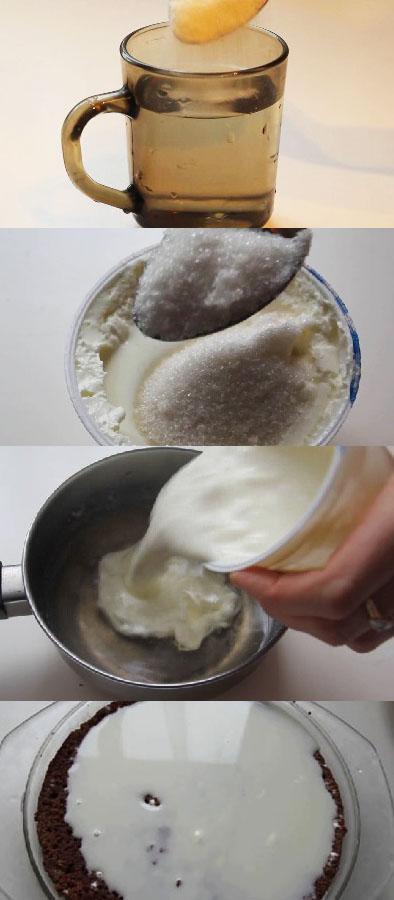 Как сделать желатиновую прослойку